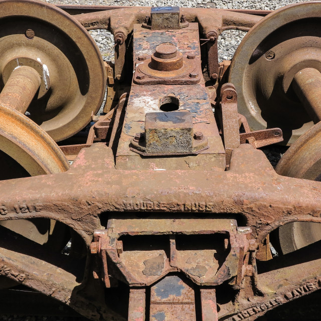 """rail wagon wheels"" stock image"