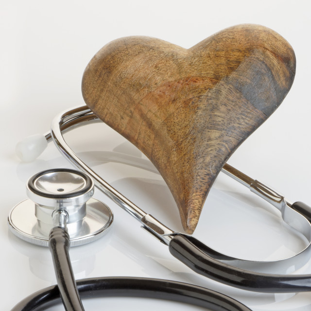 """Stethoscope and Heart"" stock image"