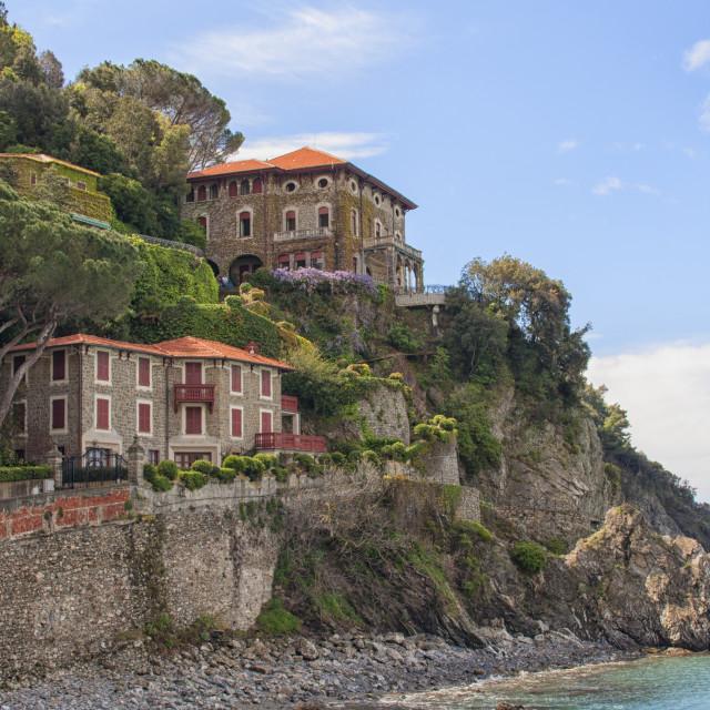 """Seaside villas"" stock image"