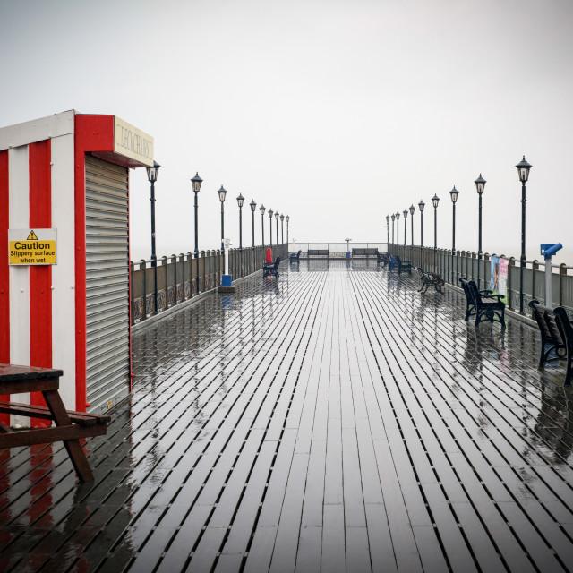 """""""Skegness Pier Lincolnshire-UK"""" stock image"""