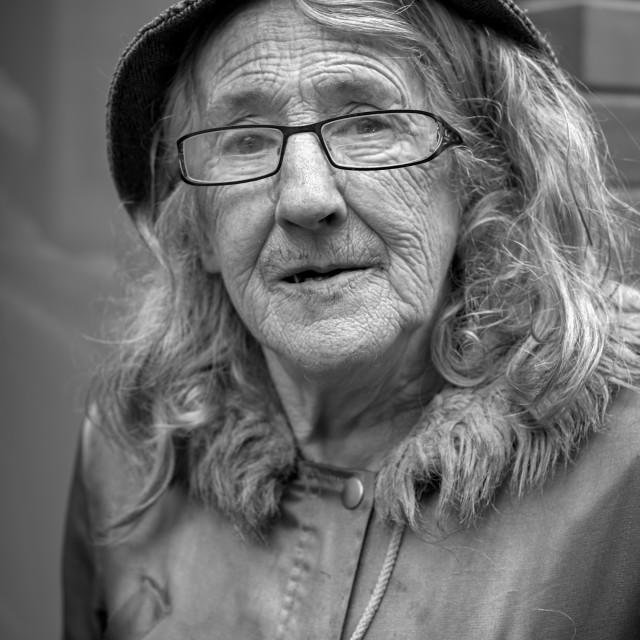"""Portrait of an Elderly Woman"" stock image"