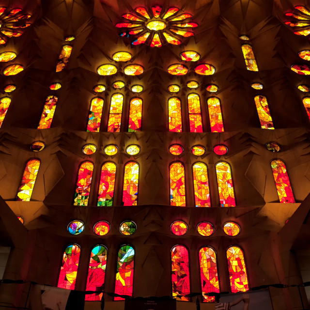 """Stained Glass Windows"" stock image"