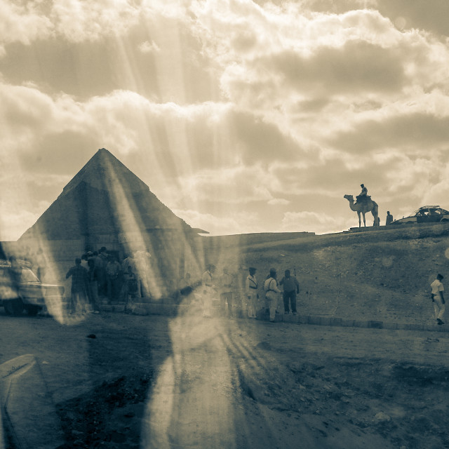 """Guards Of The Pyramid"" stock image"