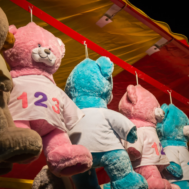 """Fairground Teddy Bears"" stock image"