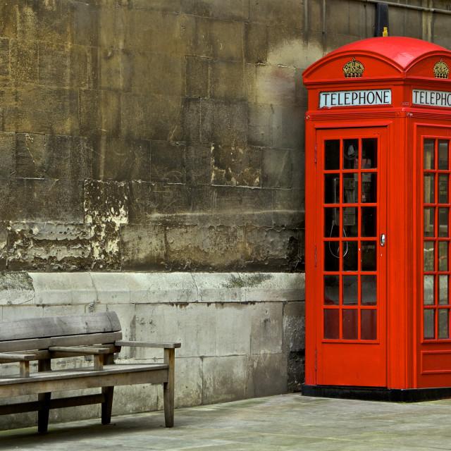 """""""British Phone Booth"""" stock image"""