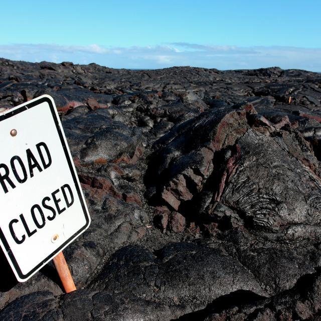 """Road closed"" stock image"