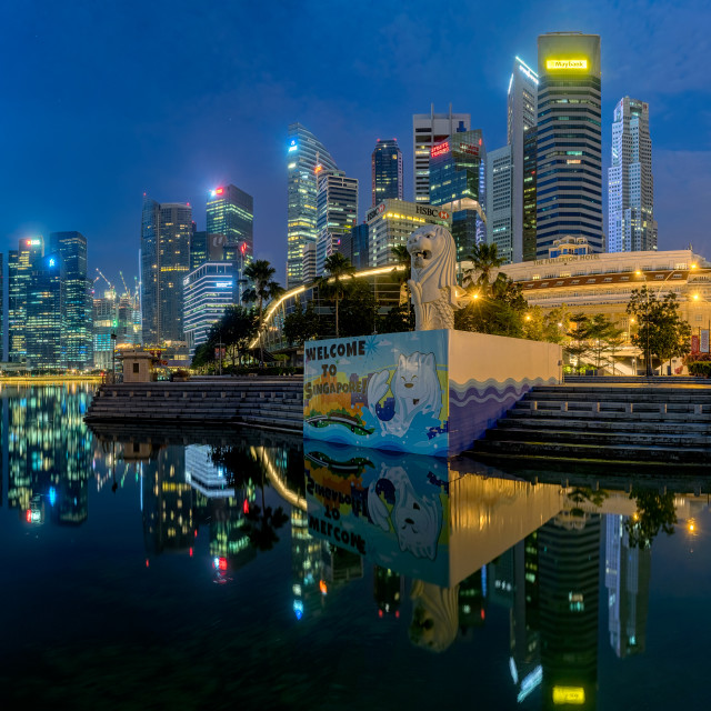 """""""Welcome To Singapore"""" stock image"""