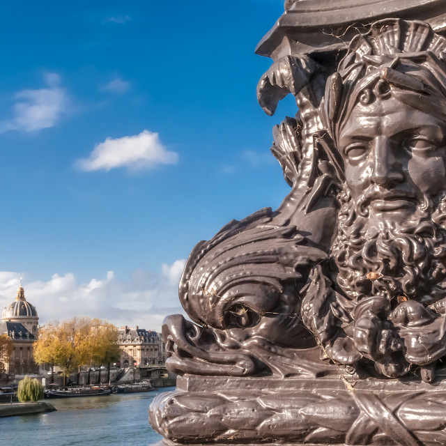 """""""Detail of the Pont Neuf"""" stock image"""