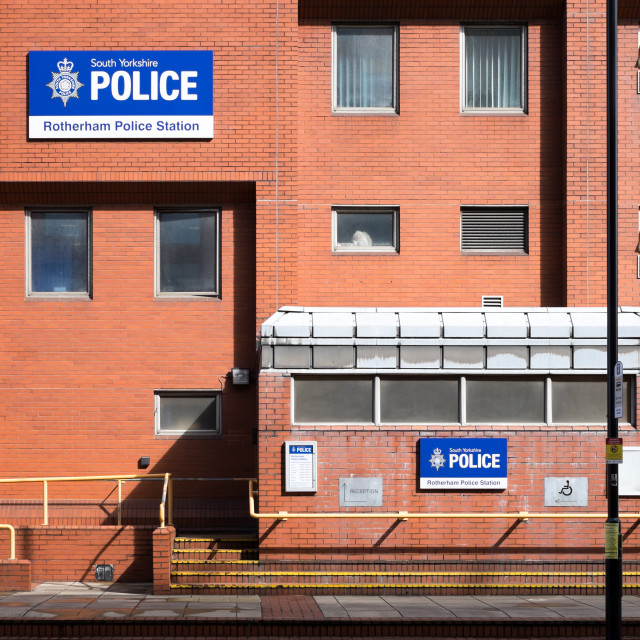 """Rotherham Police Station - UK"" stock image"