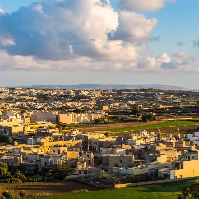 """""""Gozo Landscape Panorama"""" stock image"""
