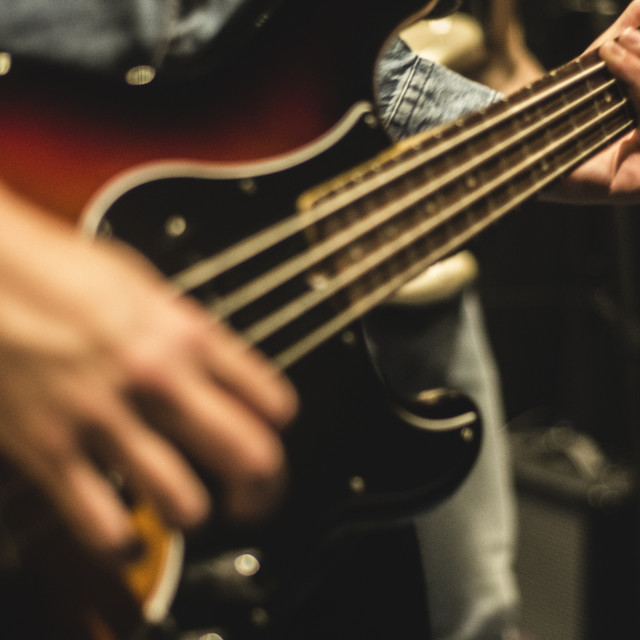 """Bass Guitar"" stock image"