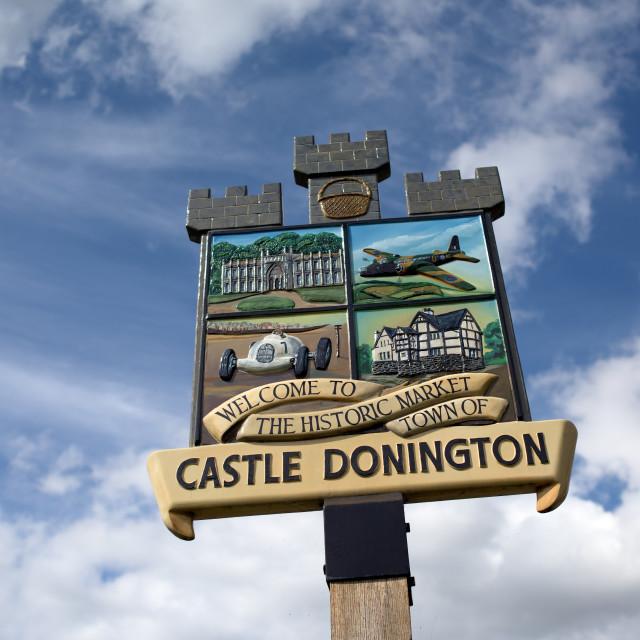 """Castle Donington Leicestershire-UK"" stock image"