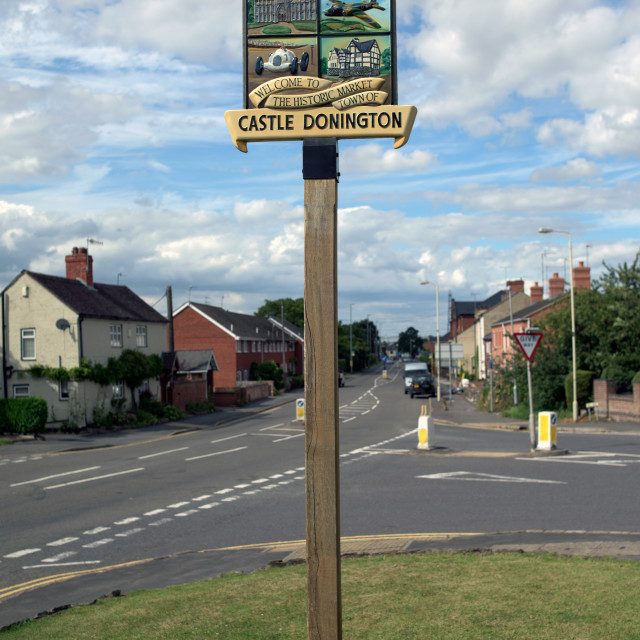 """Castle Donington Leicestershire - UK"" stock image"
