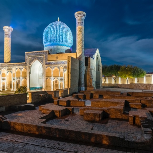 """Tomb of Amir Timur"" stock image"