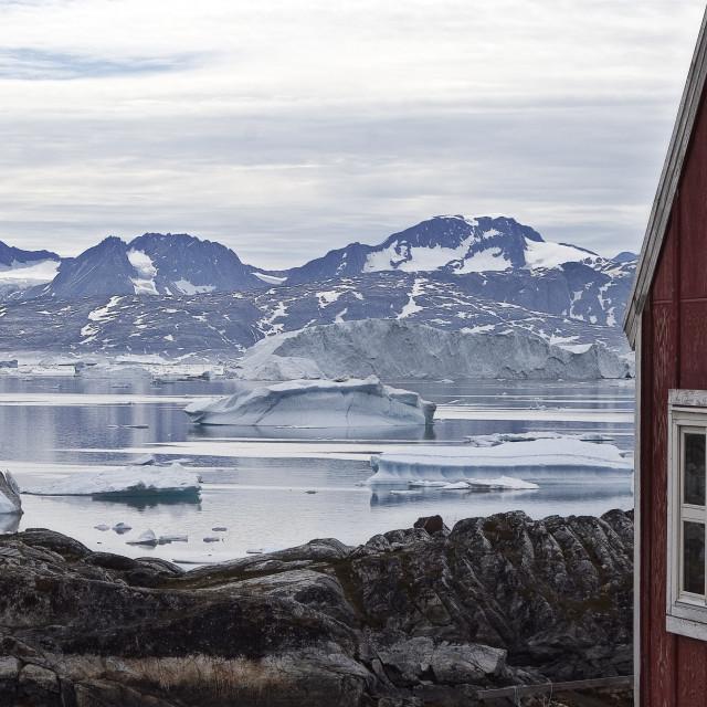 """Sermilik Fjord - Greenland"" stock image"