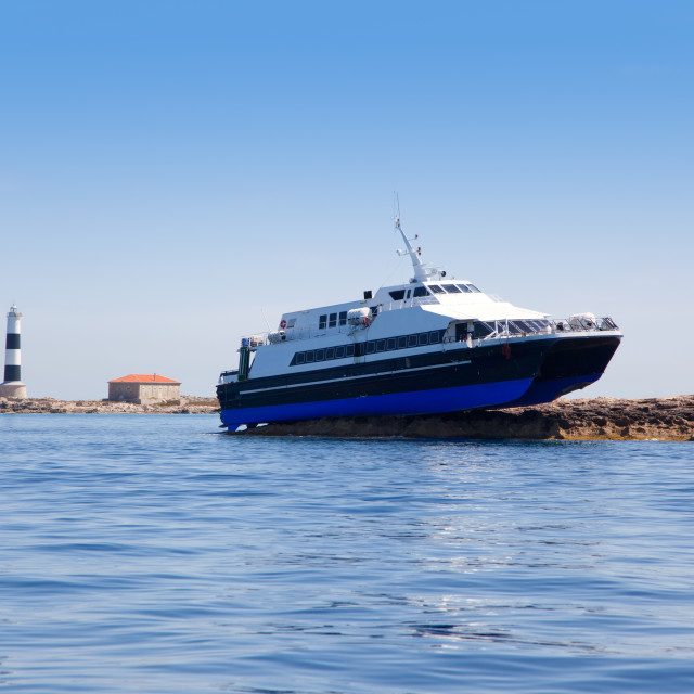 """Espalmador formentera island ferry accident"" stock image"