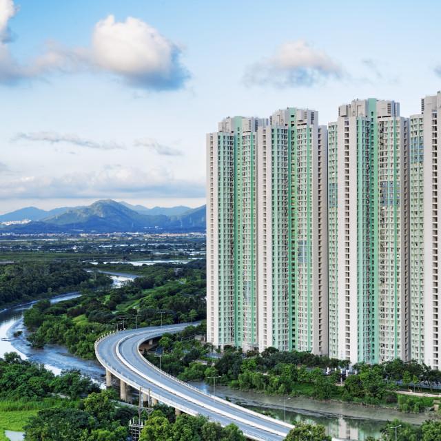 """Public Estate in Hong Kong"" stock image"
