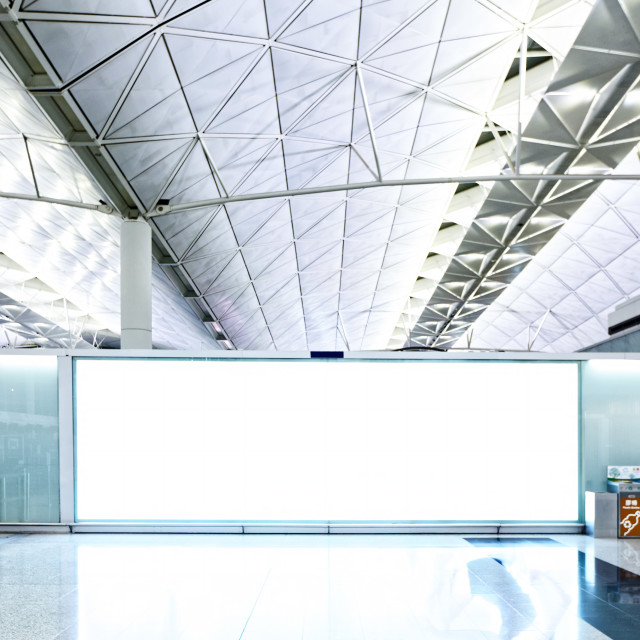 """""""Large signboard in airport departure area"""" stock image"""