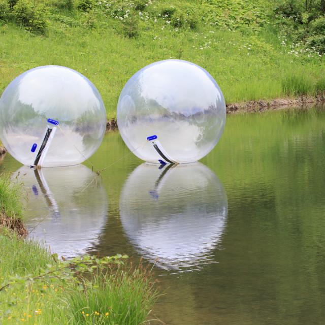 """Zorbing Balls"" stock image"