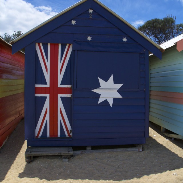 """Australia, Beach House"" stock image"