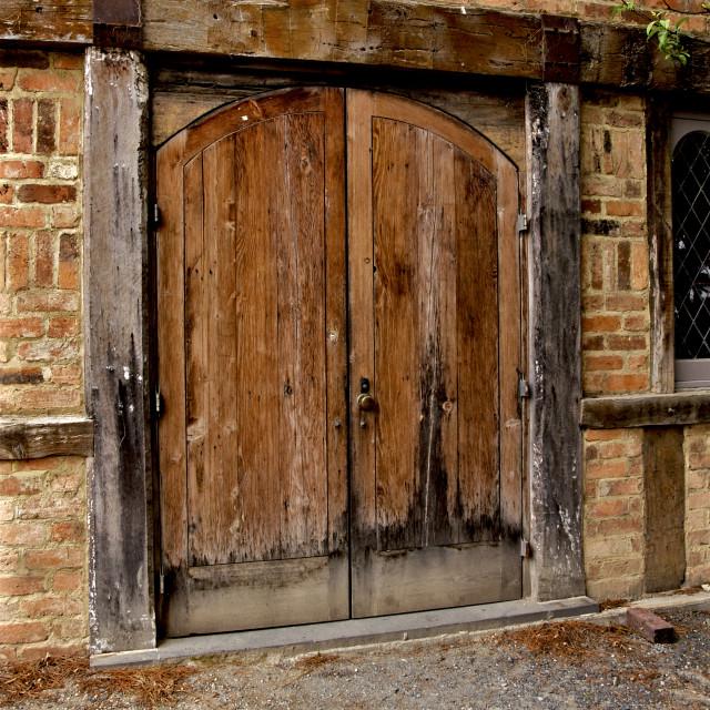 """""""Old Barn Door"""" stock image"""