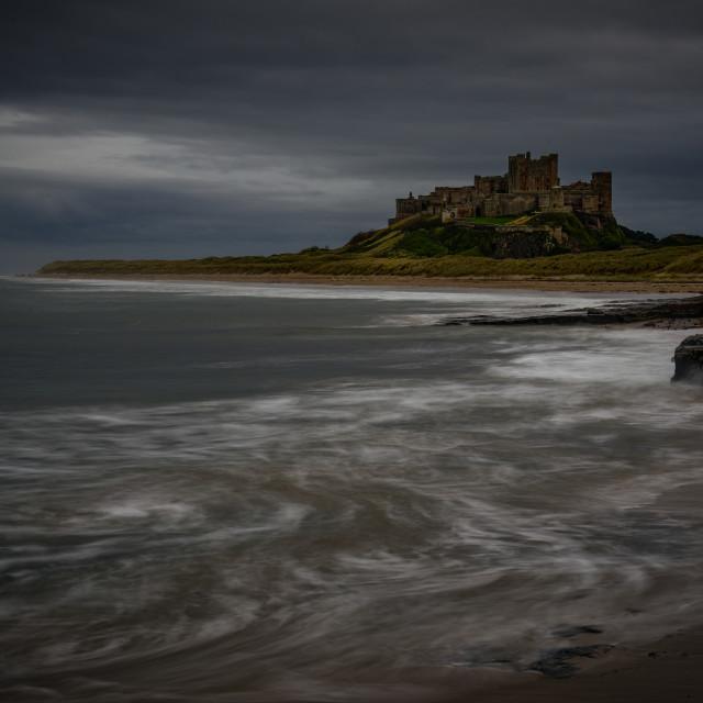 """Bamburgh Castle Evening"" stock image"