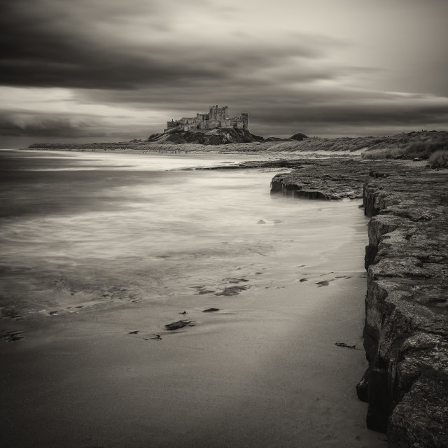"""Bamburgh Monochrome"" stock image"