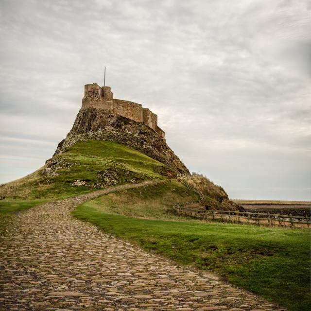 """Lindisfarne Castle"" stock image"