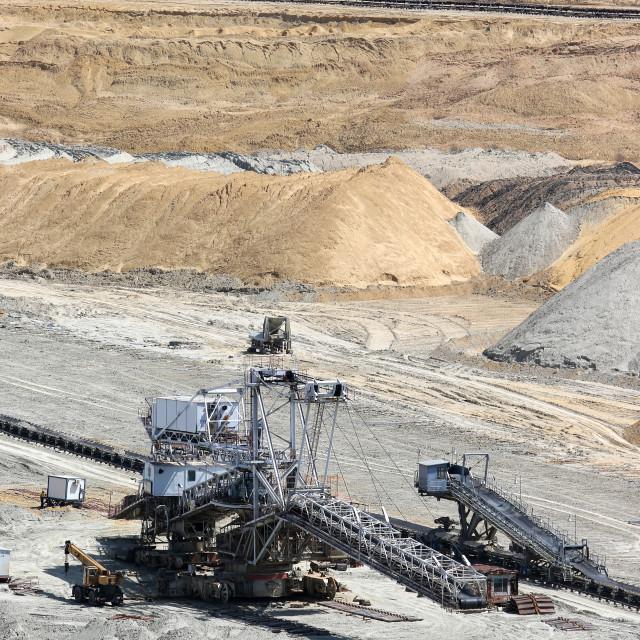 """""""open pit coal mine excavator"""" stock image"""