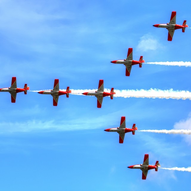"""Flying in formation"" stock image"