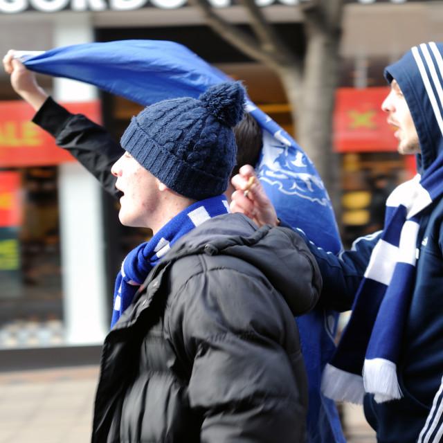 """Millwall Football Fans"" stock image"
