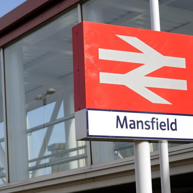 """Mansfield Train Station"" stock image"