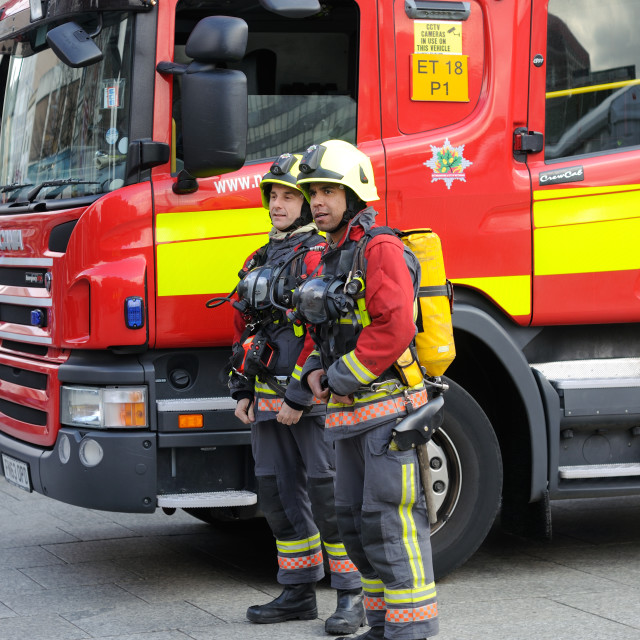 """British Fire Services"" stock image"