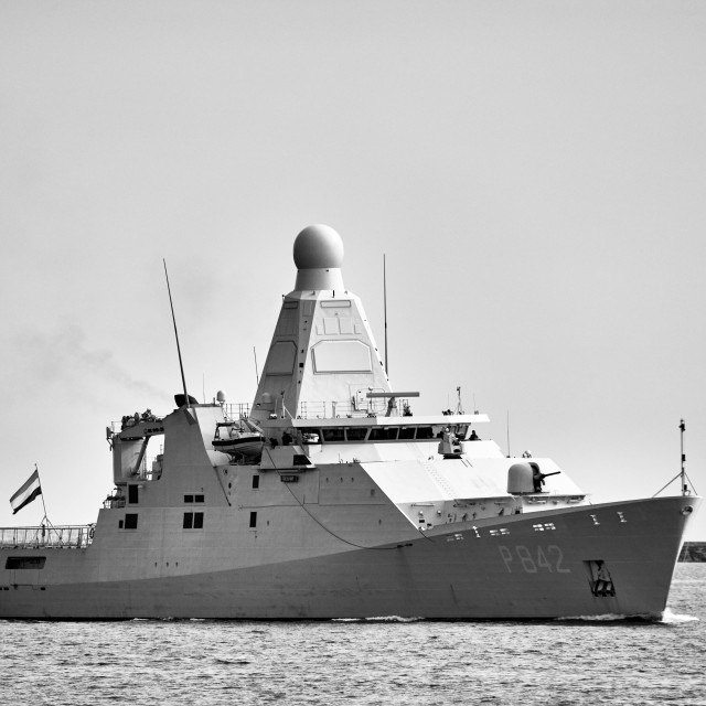 """HNLMS Friesland in Monochrome"" stock image"