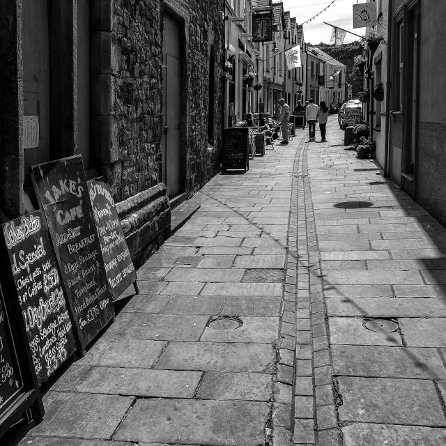 """Back street."" stock image"