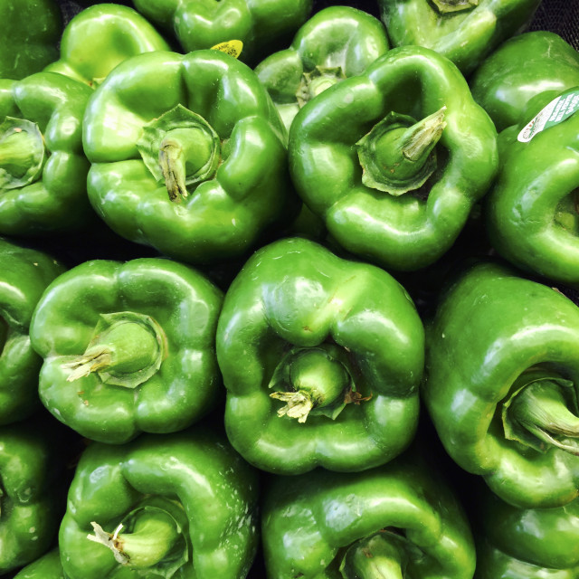 """Green Peppers, food"" stock image"