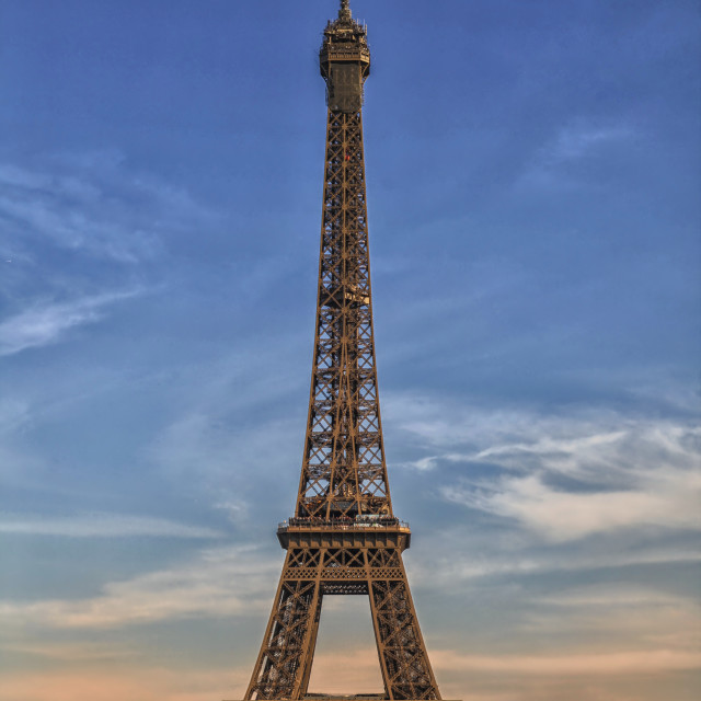 """""""Eiffel tower in France"""" stock image"""