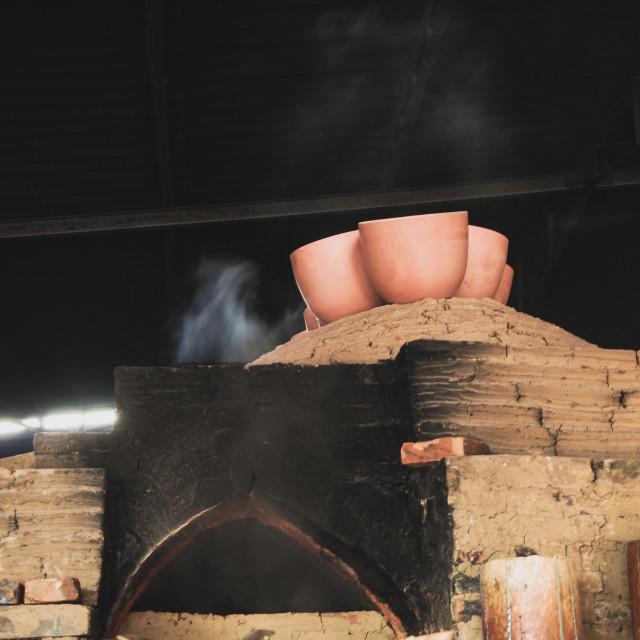 """Making Pottery"" stock image"