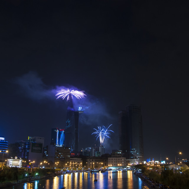 """""""New Years Fireworks"""" stock image"""