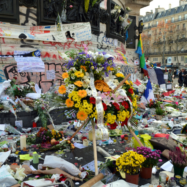 """Paris Attacks flowers"" stock image"