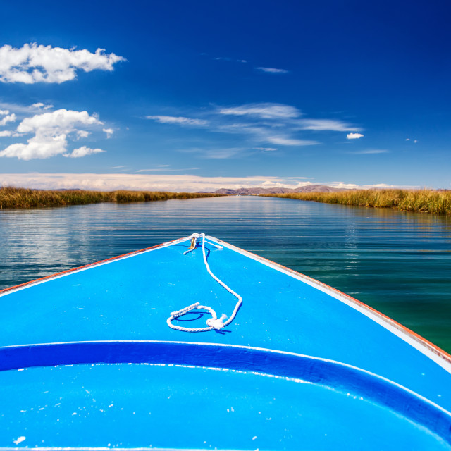"""Lake Titicaca Canals"" stock image"