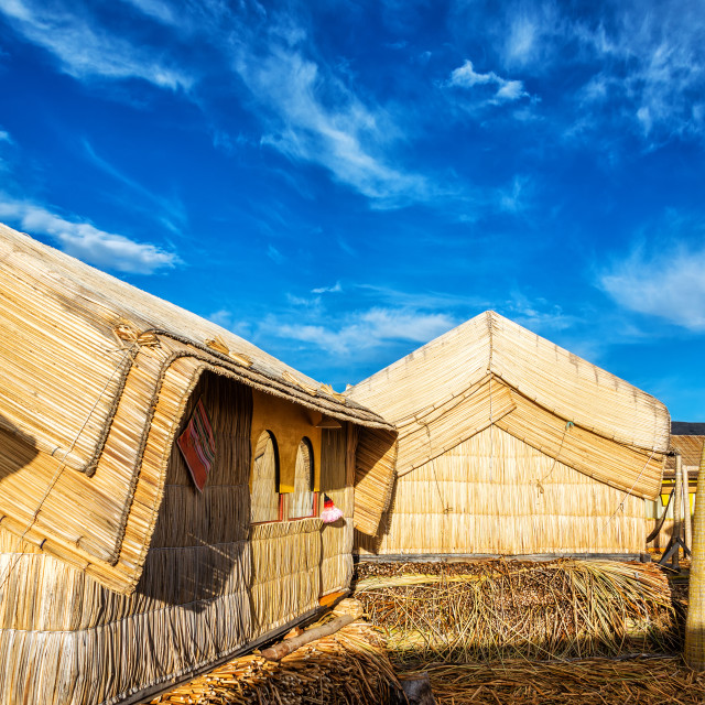 """Uros Floating Islands Houses"" stock image"