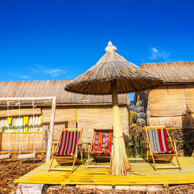 """Uros Floating Islands Chairs"" stock image"