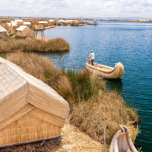 """Uros Floating Islands"" stock image"