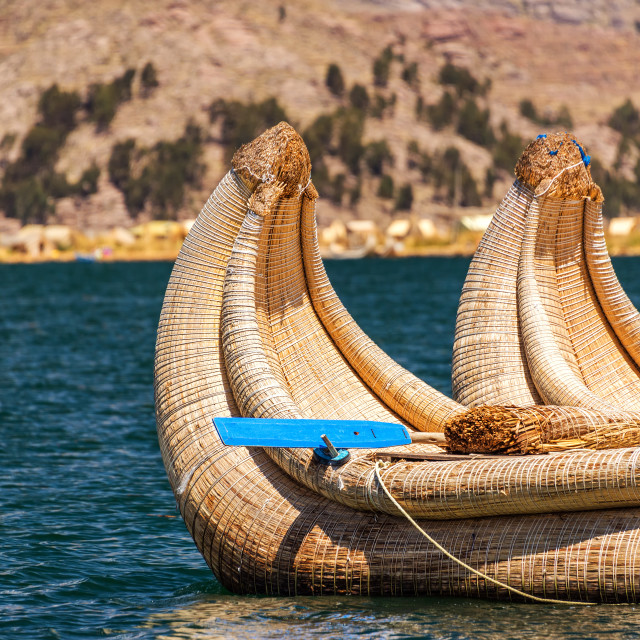 """Reed Boat Closeup"" stock image"