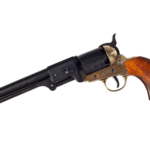 """Antique american Colt Navy percussion revolver"" stock image"