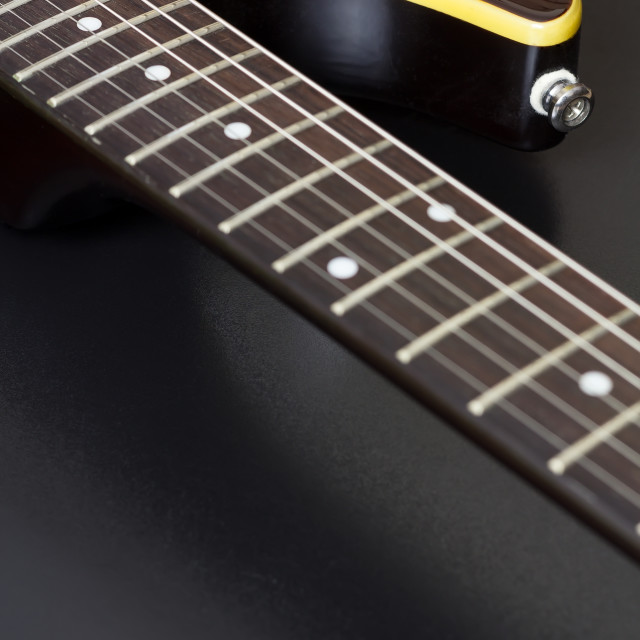 """Electric Guitar Closeup"" stock image"