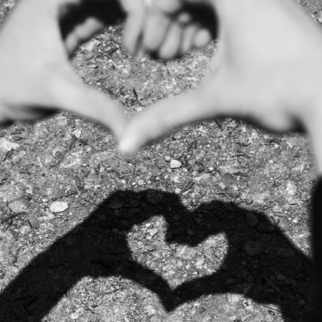 """Love heart shapes"" stock image"