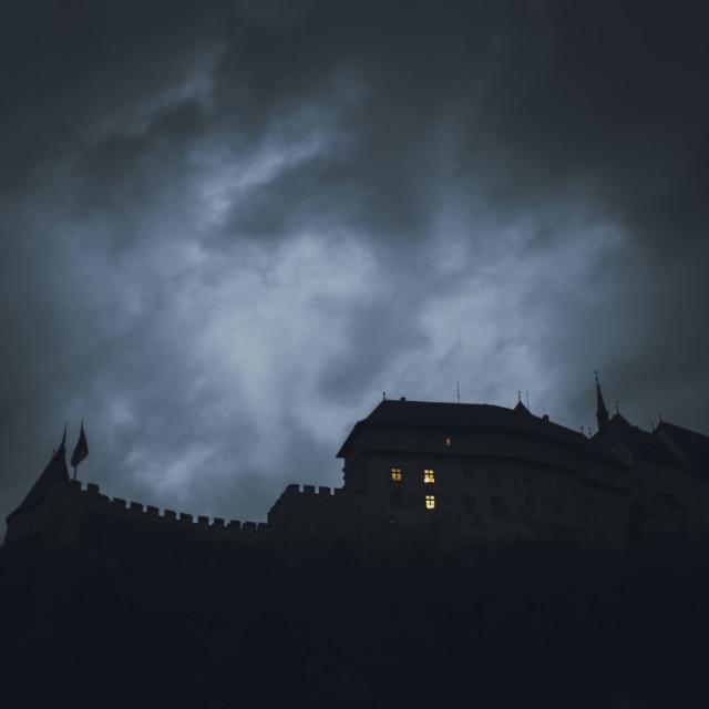 """""""Karlštejn Castle"""" stock image"""