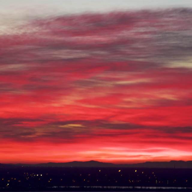 """Fall Sunrise"" stock image"